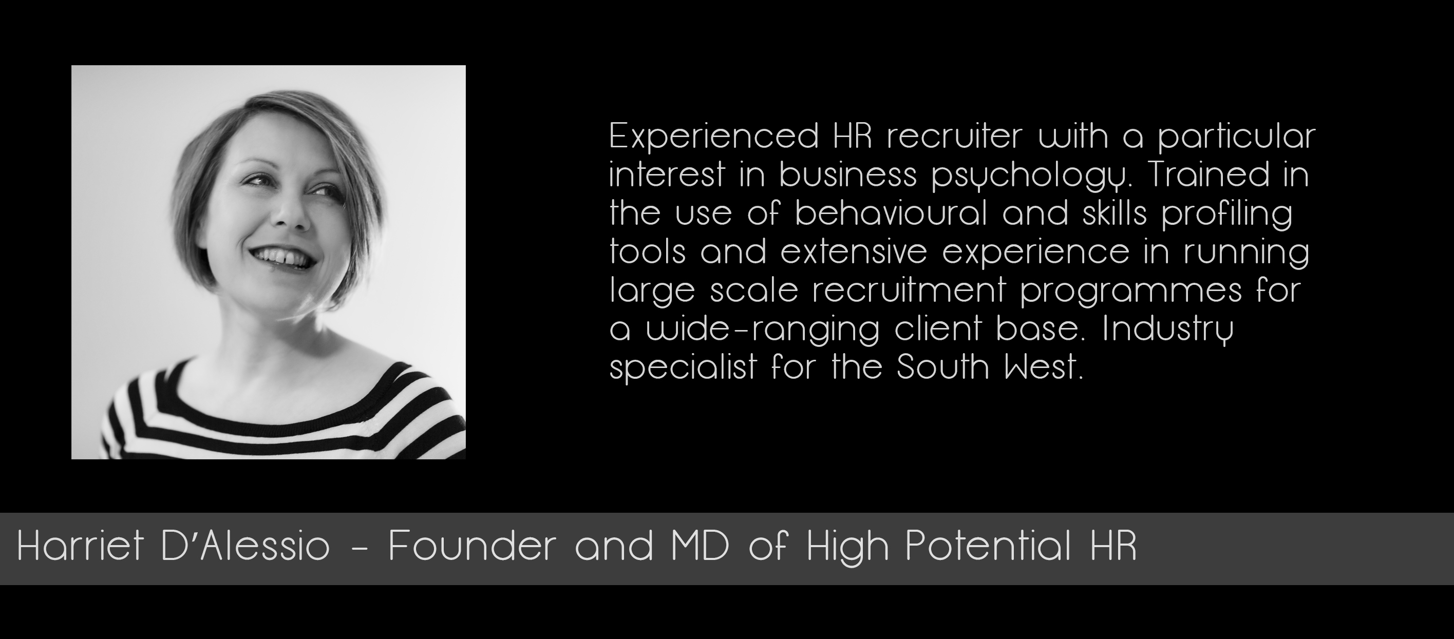 Profile photo of Harriet D'Alessio - Founder and MD of High Potential HR.
