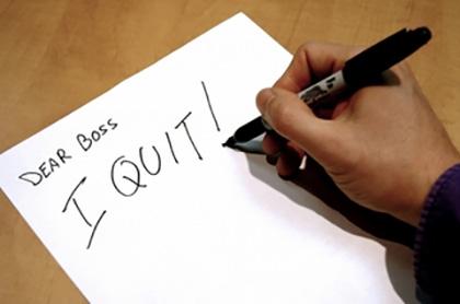 Dear boss, I quit!